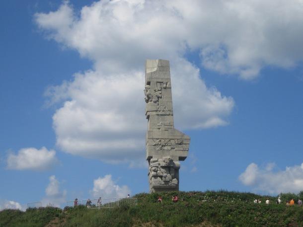 Westerplatte monument. First shots of World War II fired here.